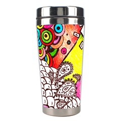 Beautiful Colorful Doodle Stainless Steel Travel Tumblers by Nexatart