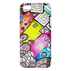 Beautiful Colorful Doodle Iphone 5s/ Se Premium Hardshell Case by Nexatart