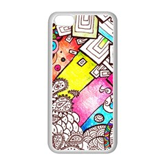 Beautiful Colorful Doodle Apple Iphone 5c Seamless Case (white)