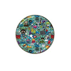 Colorful Drawings Pattern Hat Clip Ball Marker (10 Pack)