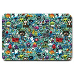 Colorful Drawings Pattern Large Doormat