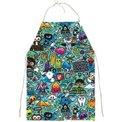 Colorful Drawings Pattern Full Print Aprons