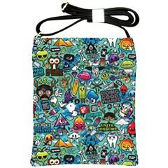 Colorful Drawings Pattern Shoulder Sling Bags by Nexatart