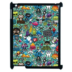 Colorful Drawings Pattern Apple Ipad 2 Case (black)