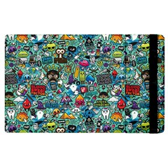Colorful Drawings Pattern Apple Ipad 2 Flip Case by Nexatart