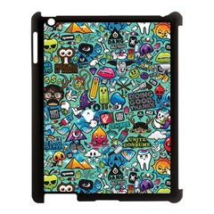 Colorful Drawings Pattern Apple Ipad 3/4 Case (black) by Nexatart