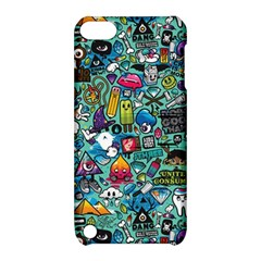 Colorful Drawings Pattern Apple Ipod Touch 5 Hardshell Case With Stand