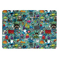 Colorful Drawings Pattern Samsung Galaxy Tab 10 1  P7500 Flip Case
