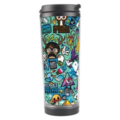 Colorful Drawings Pattern Travel Tumbler by Nexatart