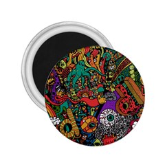 Monsters Colorful Doodle 2 25  Magnets by Nexatart