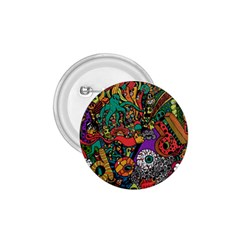 Monsters Colorful Doodle 1 75  Buttons by Nexatart