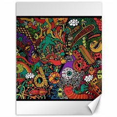 Monsters Colorful Doodle Canvas 36  X 48   by Nexatart