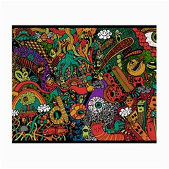 Monsters Colorful Doodle Small Glasses Cloth (2 Side) by Nexatart