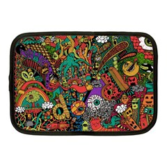 Monsters Colorful Doodle Netbook Case (medium)  by Nexatart