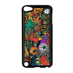 Monsters Colorful Doodle Apple Ipod Touch 5 Case (black) by Nexatart