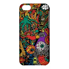 Monsters Colorful Doodle Apple Iphone 5c Hardshell Case by Nexatart