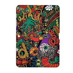 Monsters Colorful Doodle Samsung Galaxy Tab 2 (10 1 ) P5100 Hardshell Case