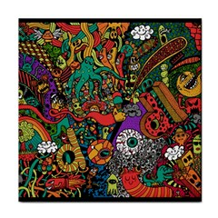 Monsters Colorful Doodle Tile Coasters by Nexatart