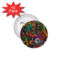 Monsters Colorful Doodle 1 75  Buttons (10 Pack) by Nexatart