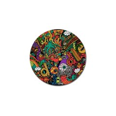 Monsters Colorful Doodle Golf Ball Marker