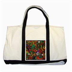 Monsters Colorful Doodle Two Tone Tote Bag