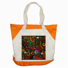 Monsters Colorful Doodle Accent Tote Bag
