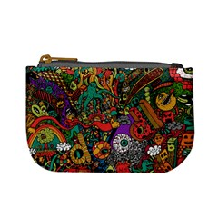 Monsters Colorful Doodle Mini Coin Purses by Nexatart
