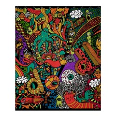Monsters Colorful Doodle Shower Curtain 60  X 72  (medium)  by Nexatart