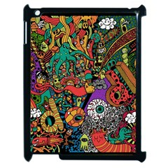 Monsters Colorful Doodle Apple Ipad 2 Case (black)
