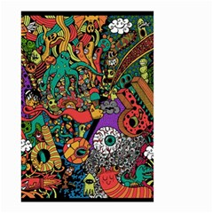 Monsters Colorful Doodle Small Garden Flag (two Sides) by Nexatart