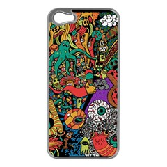 Monsters Colorful Doodle Apple Iphone 5 Case (silver) by Nexatart