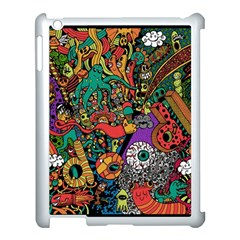 Monsters Colorful Doodle Apple Ipad 3/4 Case (white)