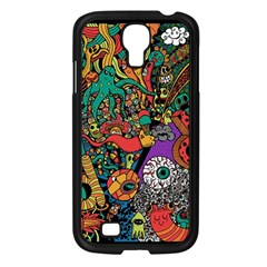 Monsters Colorful Doodle Samsung Galaxy S4 I9500/ I9505 Case (black)