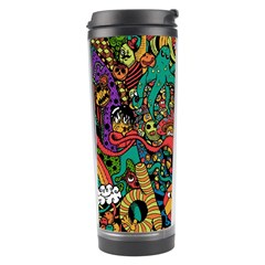 Monsters Colorful Doodle Travel Tumbler by Nexatart