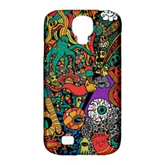 Monsters Colorful Doodle Samsung Galaxy S4 Classic Hardshell Case (pc+silicone) by Nexatart