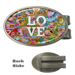 Doodle Art Love Doodles Money Clips (oval)  by Nexatart
