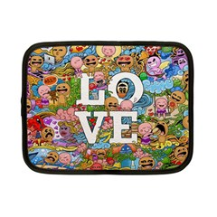 Doodle Art Love Doodles Netbook Case (small)  by Nexatart