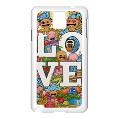 Doodle Art Love Doodles Samsung Galaxy Note 3 N9005 Case (white)