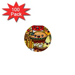 Cute Food Wallpaper Picture 1  Mini Buttons (100 Pack)  by Nexatart