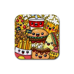 Cute Food Wallpaper Picture Rubber Coaster (square)