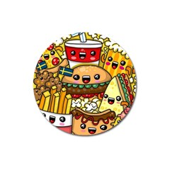 Cute Food Wallpaper Picture Magnet 3  (round) by Nexatart