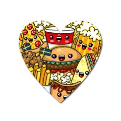 Cute Food Wallpaper Picture Heart Magnet by Nexatart