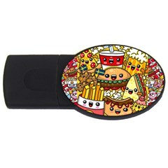 Cute Food Wallpaper Picture Usb Flash Drive Oval (2 Gb) by Nexatart