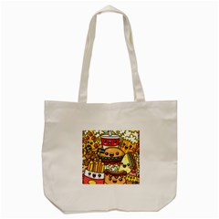 Cute Food Wallpaper Picture Tote Bag (cream) by Nexatart