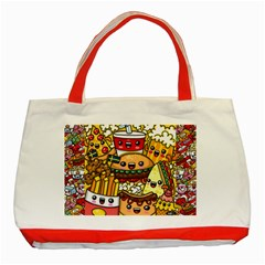 Cute Food Wallpaper Picture Classic Tote Bag (red)