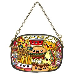 Cute Food Wallpaper Picture Chain Purses (one Side)  by Nexatart