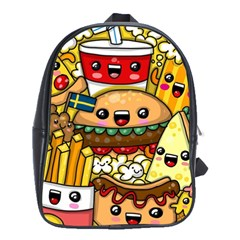 Cute Food Wallpaper Picture School Bags(large)