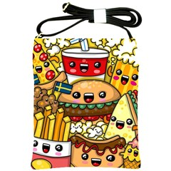 Cute Food Wallpaper Picture Shoulder Sling Bags by Nexatart