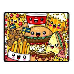 Cute Food Wallpaper Picture Fleece Blanket (small) by Nexatart