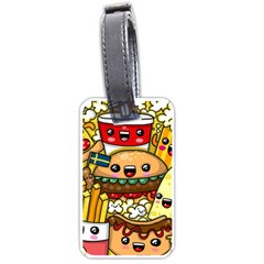 Cute Food Wallpaper Picture Luggage Tags (two Sides) by Nexatart